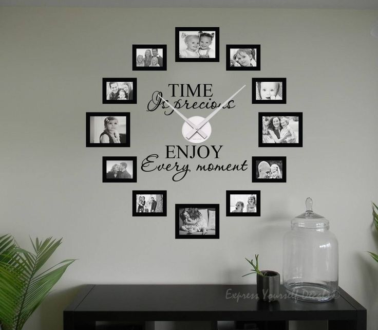Time is precious picture frame clock | picture frame wall clock decal sticker | wall decal sticker clock | picture frame clock | wall decal sticker clock