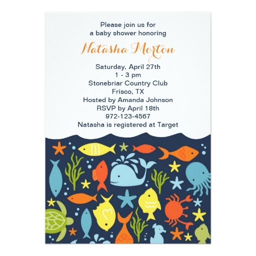 best ocean baby shower invitations images on   baby, Baby shower invitation