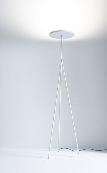 """Faro"" minimal white floor lamp | lighting . Beleuchtung . luminaires | Design: Anta Leuchten |"