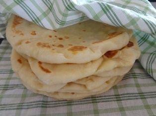 Jogurtové chlebové placky (fotorecept) - obrázok 5