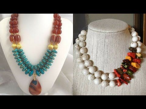 ac2b44a4f Beautiful Beaded Necklace Designs 2018 || Designer Beaded jewelry  collections || Jewelry fashions - YouTube