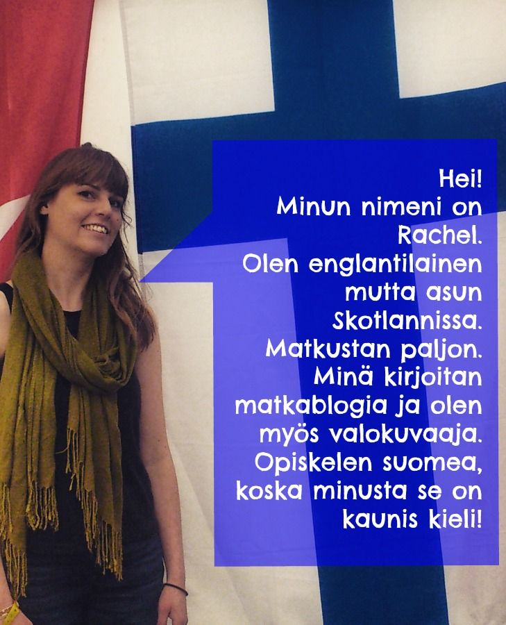 Introducing myself in Finnish. Where I'm from and what I do.
