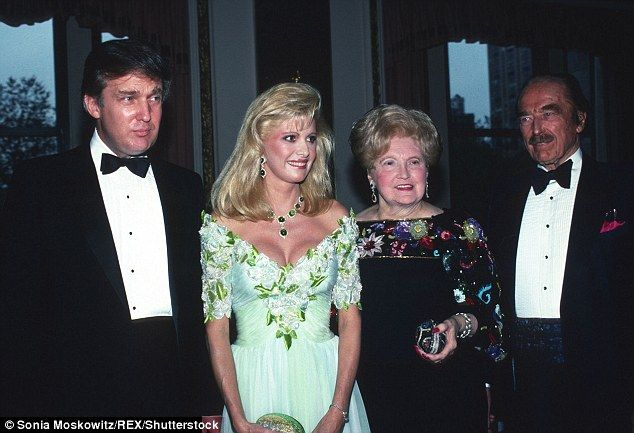 Donald Trump (left, with first wife Ivana and his parents in 1989) had his brother Freddy as his best man at his 1977 wedding but four years later, his brother died an alcoholic