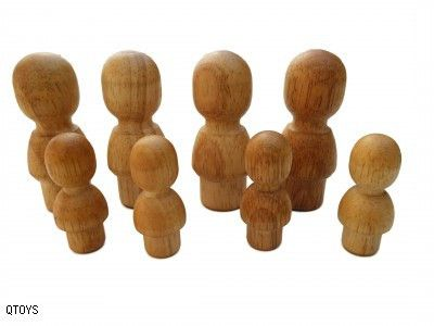 Set Of 8 Natural People