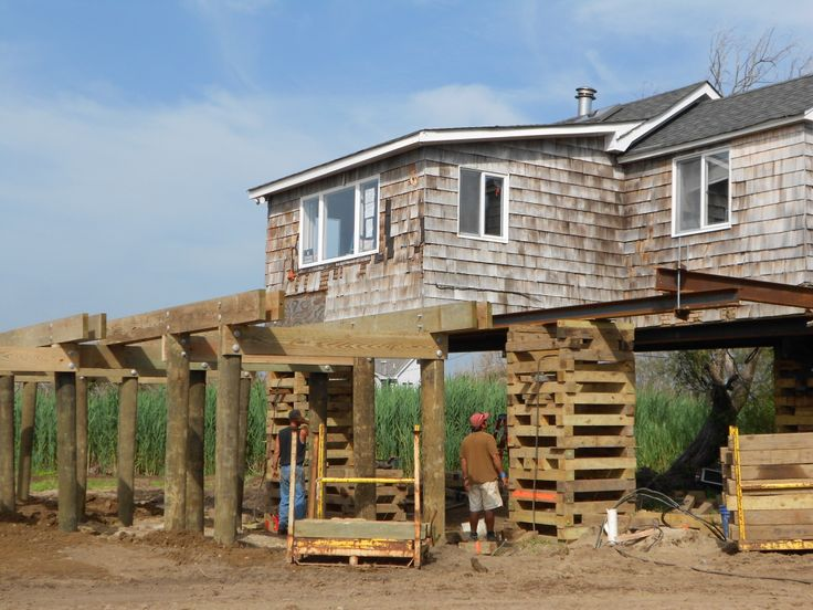 raising a house on pilings