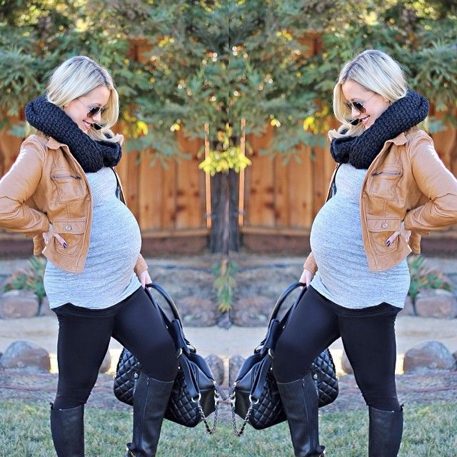 Love this maternity outfit... you don't have to change your entire wardrobe and look frumpy!!