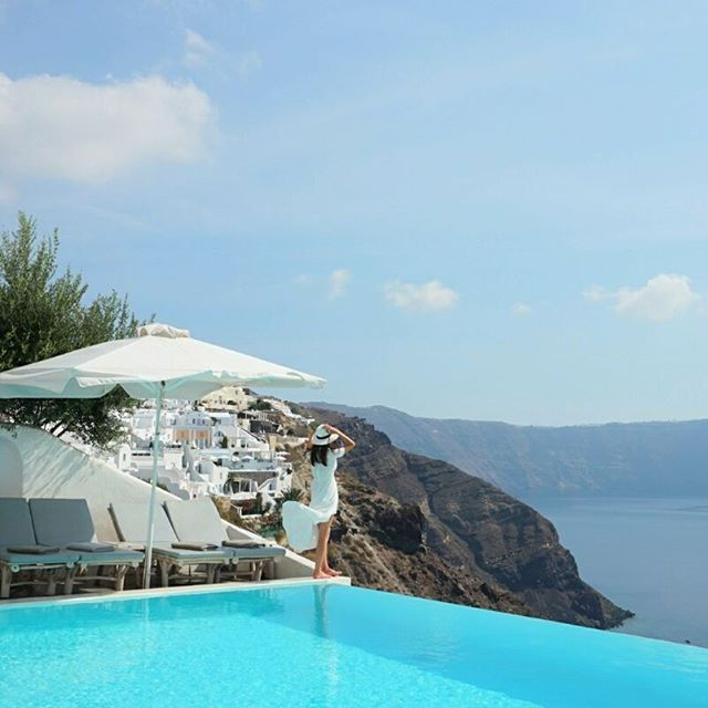 Attending the blue... What's better? #AndronisExlcusive #Santorini  Photo credits: @joon0602