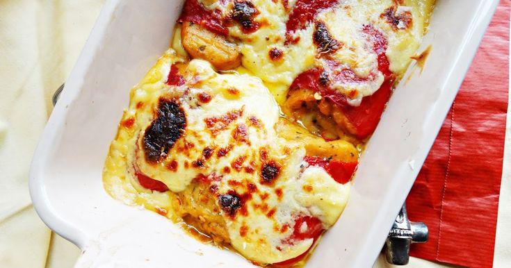 Blog de cuina de la dolorss: Pimientos del piquillo rellenos de marisco gratinados