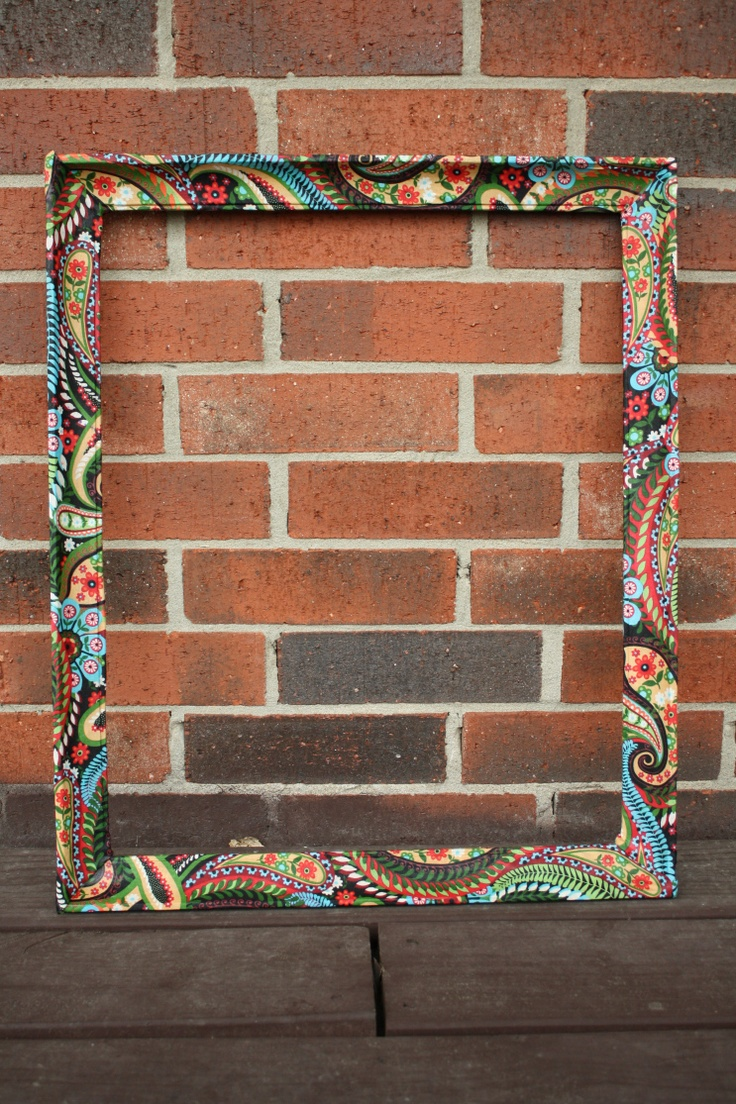 ... Mirror design on Pinterest : Fabric covered, Fabric frame and Fabrics