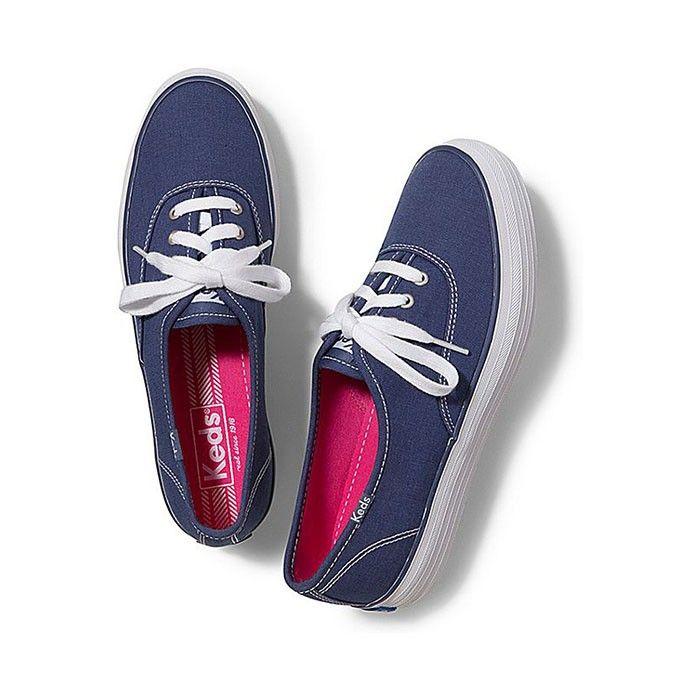 Keds Shoes Womens Champion Triple Navy Blue
