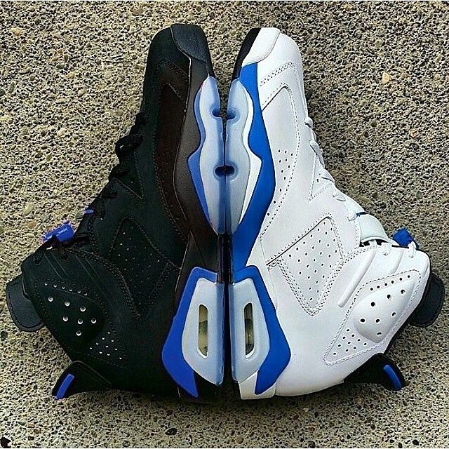 check out 327de 13d3f Authentic Nike Jordan 6 Cheap sale GS Game Royal White-Vivid Pin