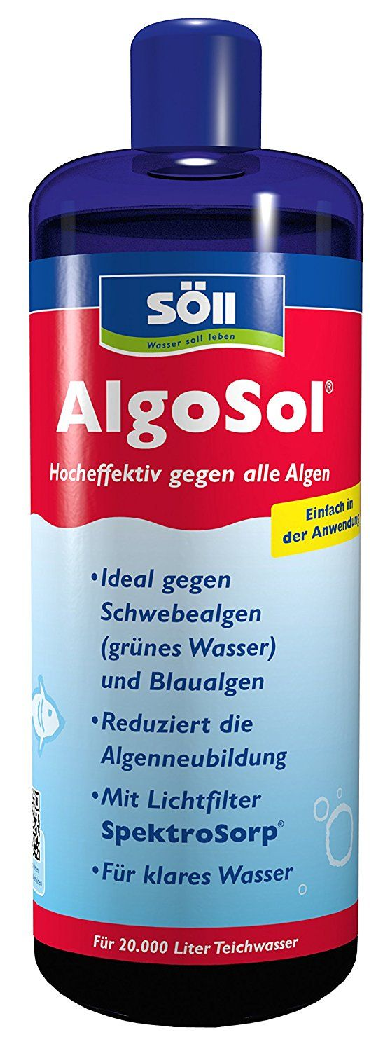 Söll 12275 algaecides, AlgoSol, against green water in garden pond, algae agent for filamentous algae, 1 L, red ** You can find out more details at the link of the image. #GardenDecor