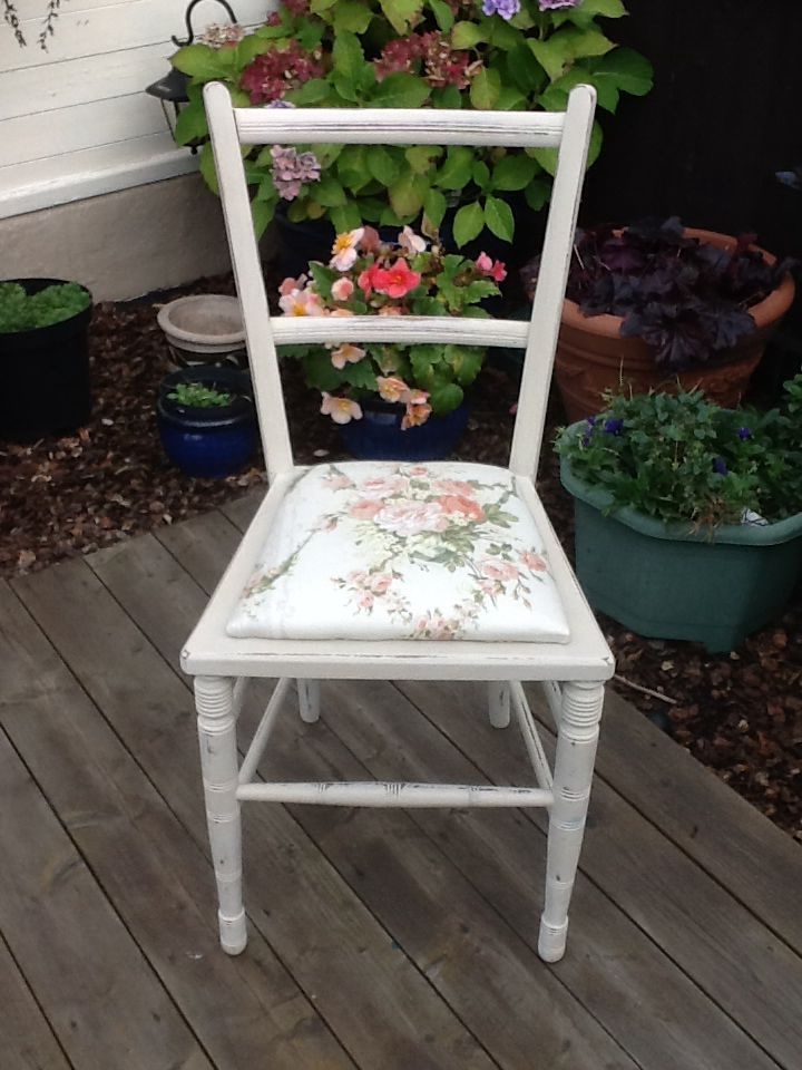 Lovely Up Cycled bedroom chair.
