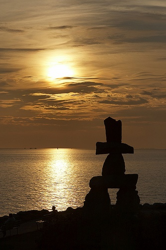 Sunrise...sunset  ~ Inukshuk_003 by Martin Krzywinski, via Flickr