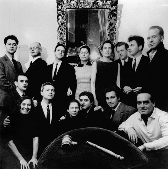 i would like to be here!  France. Paris. 1957. Magnum Photos Meeting. From left to right. Foreground: Inge Bondi, John Morris, Barbara Miller, Cornell Capa, Rene Burri, Erich Lessing. Middle: Michel Chevalier. Background: Elliott Erwitt, Henri Cartier-Bresson, Erich Hartmann, Rosellina Bischof, Inge Morath, Kryn Taconis, Ernst Haas, Brian Brake. © Magnum Photos