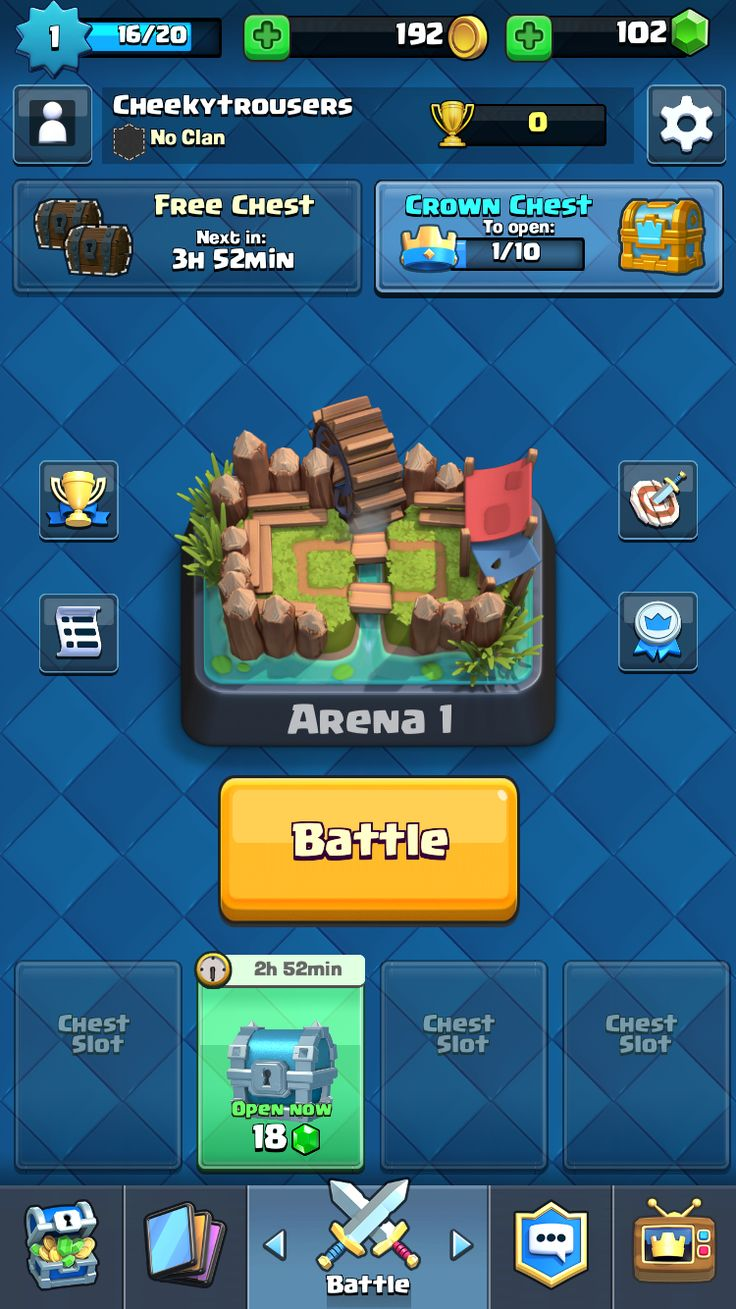 Clash Royale Main Screen