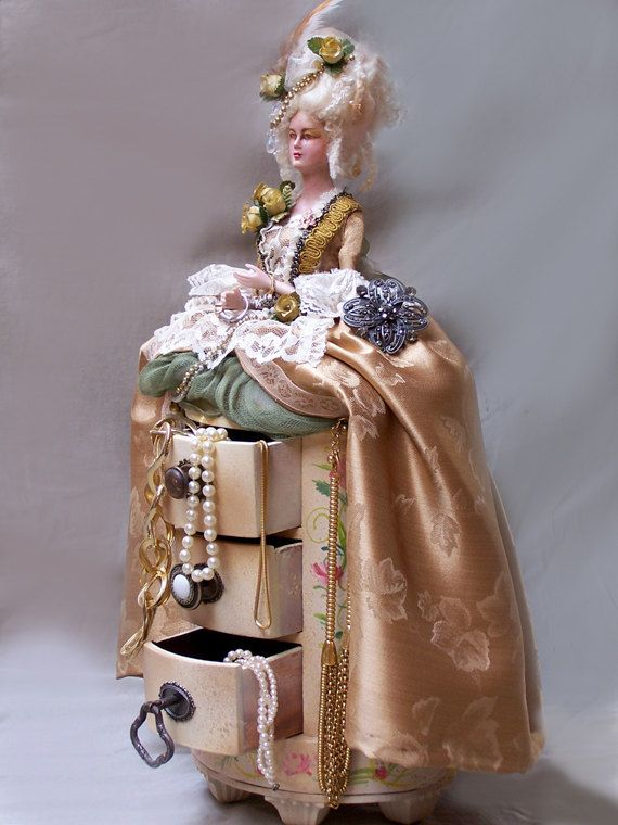 Marie Antoinette Art Doll Jewelry Box by by steamsensations, $200.00