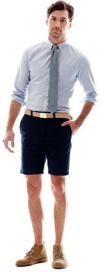 jcp blue button up shirt and shorts #nickspicks
