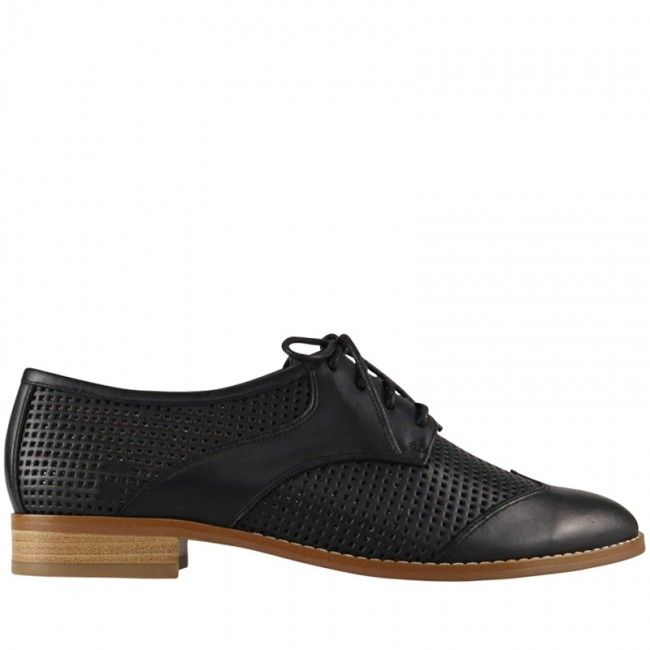 Black leather brogues from Wittner