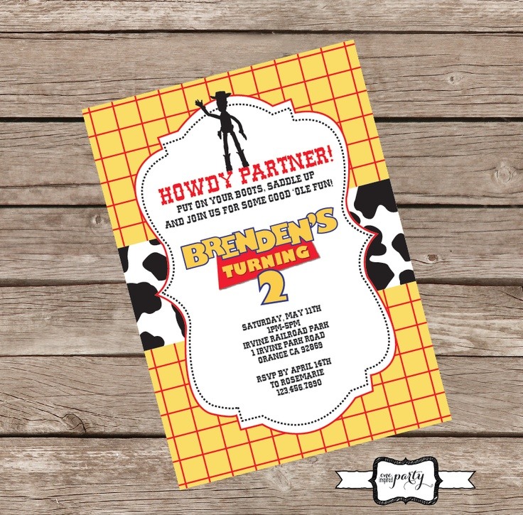 8 best invitations images on Pinterest | Toy story birthday, Toy ...