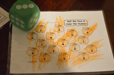 Structured Play: Pumpkin Roll- Number Recognition