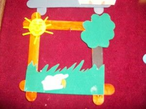 free popsicle stick frame craft (4)