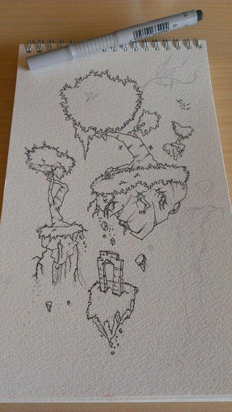 Paso1 del boceto al lapiz y luego...