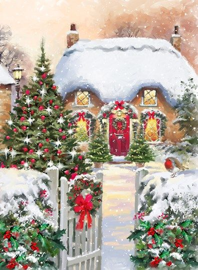 Winter Cottages 1 -- by Richard MacNeil