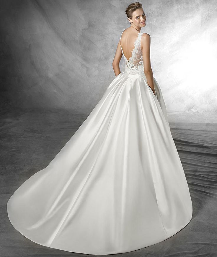 Tulle Overskirt Wedding Dresses Mermaid Bateau Neck Simple: 213 Best Images About PRONOVIAS 2016 On Pinterest