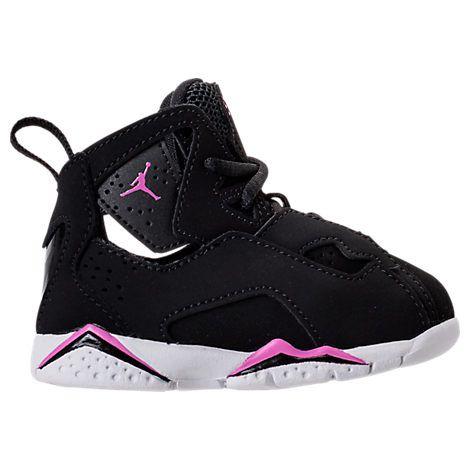 NIKE GIRLS' TODDLER JORDAN TRUE FLIGHT BASKETBALL SHOES, BLACK. #nike #shoes #