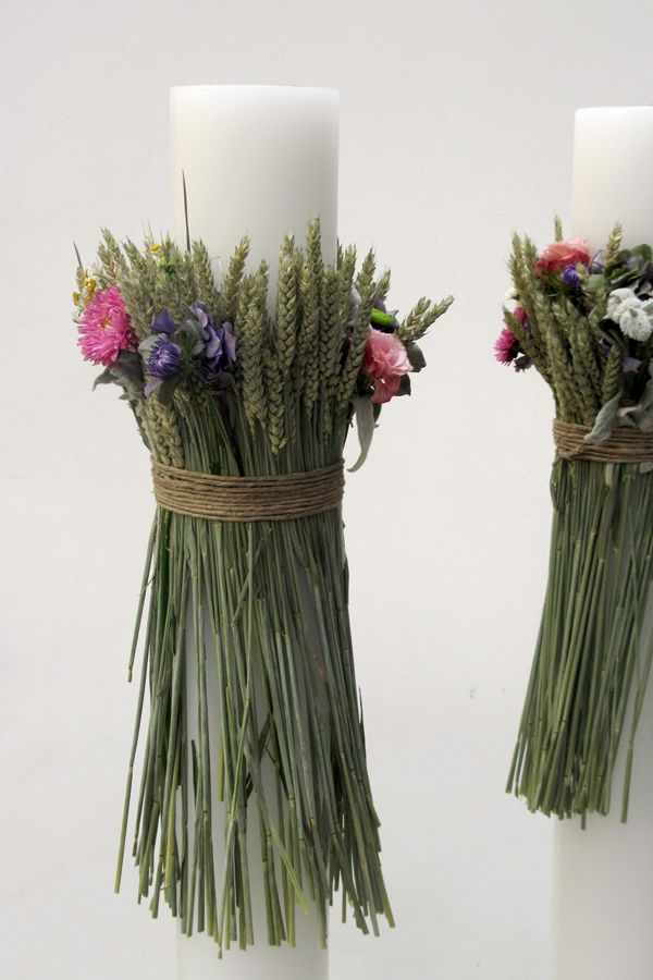 Chic & simple wedding candles for a bohemian wedding