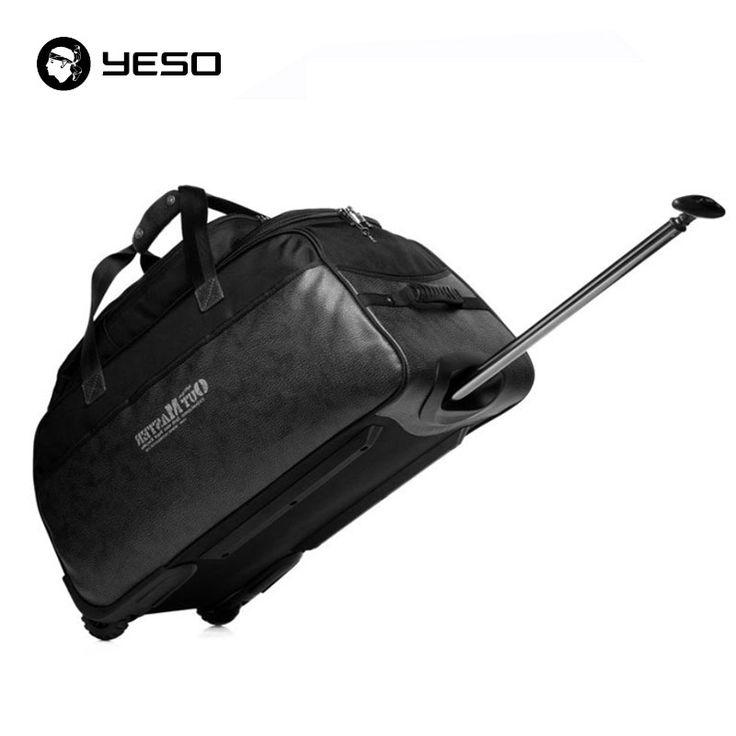 Tangan bagasi troli tas travel 73l 28 inch tahan air oxford tas koper kulit pada roda bergulir unisex wol tas yeso