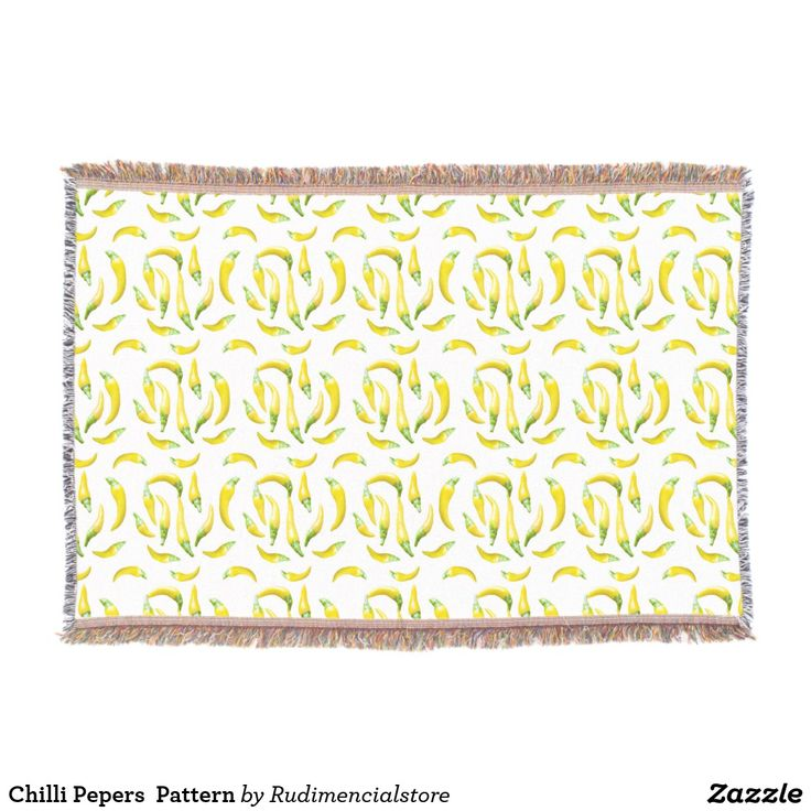 Chilli Pepers  Pattern Throw Blanket