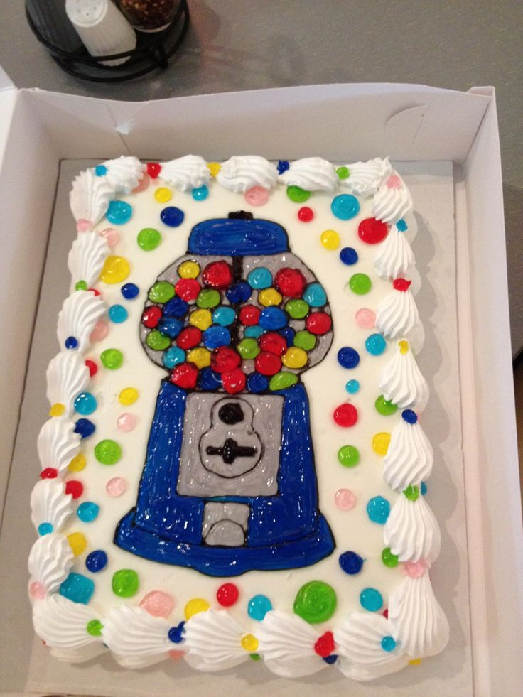 Decorating Ideas > Ice Cream Cake Decorated With A Blue Gumball Machine Any  ~ 073444_Ice Cream Cake Decoration Ideas