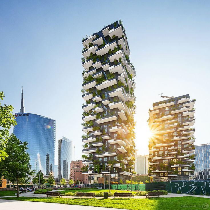 Bosco Verticale, Milan Green architecture, Vertical
