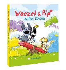 Woezel en Pip zijn dol op buiten spelen!  Ze gaan steppen, vliegeren, van de glijbaan en spelen in d