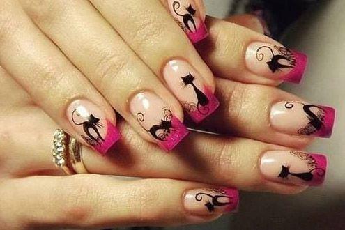 Resultado de imagen para uñas transparentes decoradas