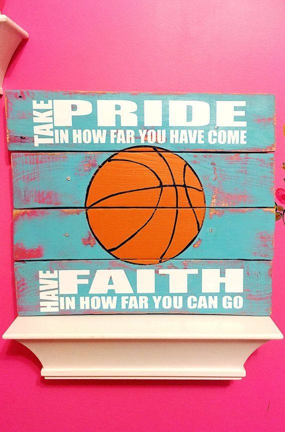 Basketball Sign Girls Bedroom Decor Basketball by TamieMarieDesign