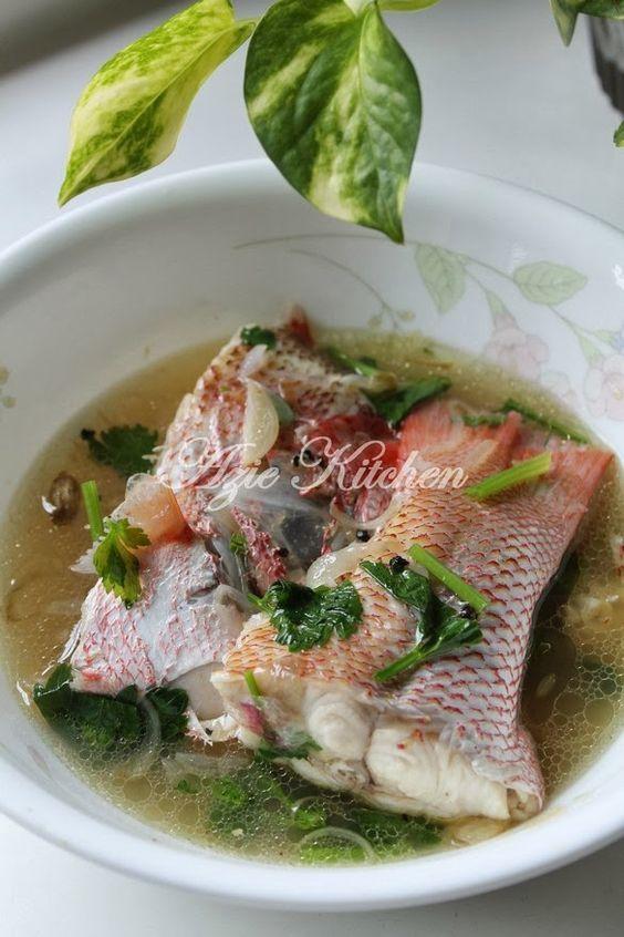 Azie Kitchen: Sup Ikan Merah