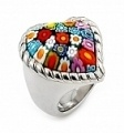 Murano glass heart shaped ring. $149.99