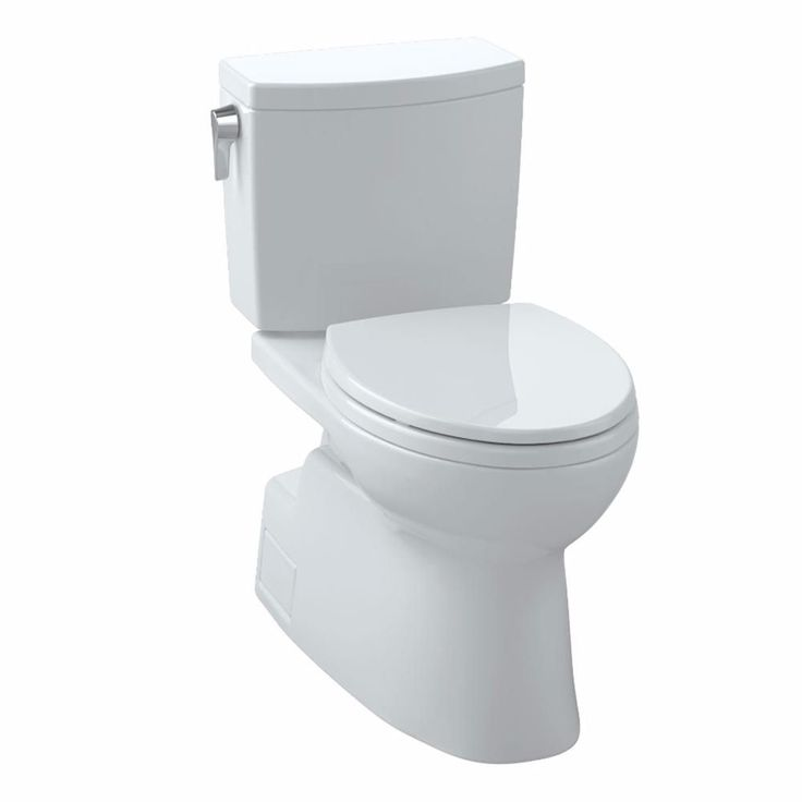 Toto Vespin II 2-Piece 1.0 GPF Single Flush Elongated Chair Height Toilet in Cotton White-CST474CUFG