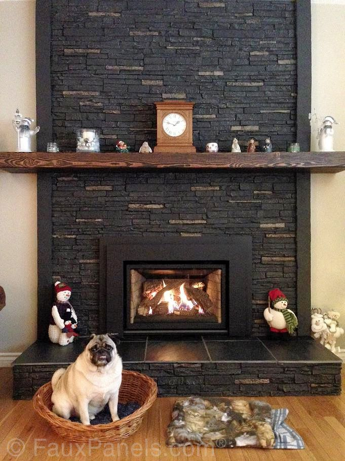 Faux Stone Panels Molded From Real Stone For Vividly Realistic Look And Feel Fireplace Pug
