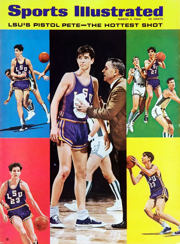 'Pistol' Pete Maravich of LSU in 1968. He is still the all-time leading scorer in NCAA Division 1, with 3,667 points and an average of 44.2 points per game. This was achieved before the 3-point line was introduced. One of the best college basketball player in history.