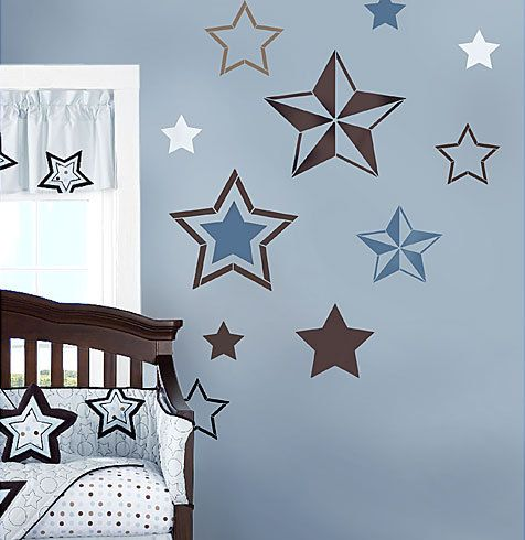 7 Stars Stencil Kit - Wall Art - Nursery Stencil - Kids Room Decor - DIY Wall Design - Reusable Stencils for walls