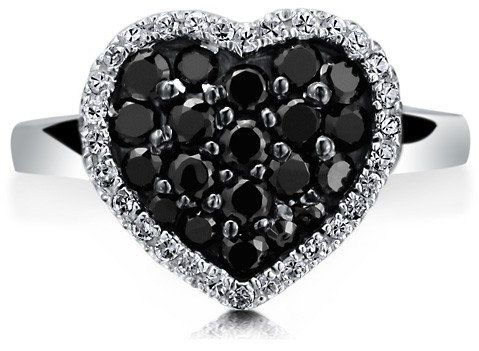 #Berricle                 #ring                     #Sterling #Silver #Black #Cubic #Zirconia #Flat #Heart #Fashion #Ring ##r486-2                          Sterling Silver 925 Black Cubic Zirconia CZ Flat Heart Fashion Ring #r486-2                             http://www.seapai.com/product.aspx?PID=1263690