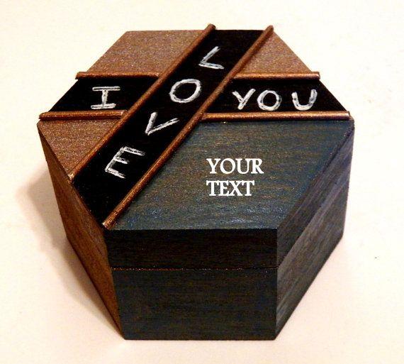 Personalized Men Box Anniversary Gift Men por Tutorialpaper en Etsy