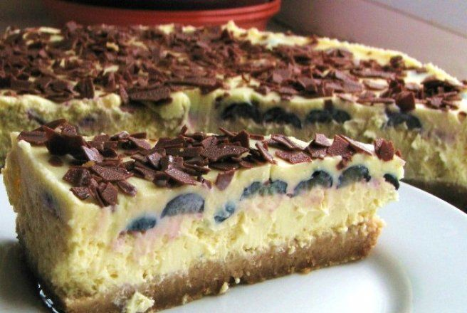 Retete Culinare - New York cheesecake cu afine