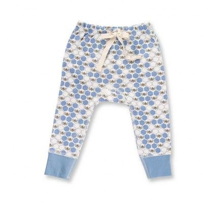 Cornflower Blue Bees Pants from Sapling Child's L'Abeille (Honey Bee) collection