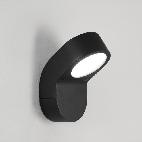 Oprano Black Outdoor Wall Light A Modern Low Energy Wall Light Designed To Use A