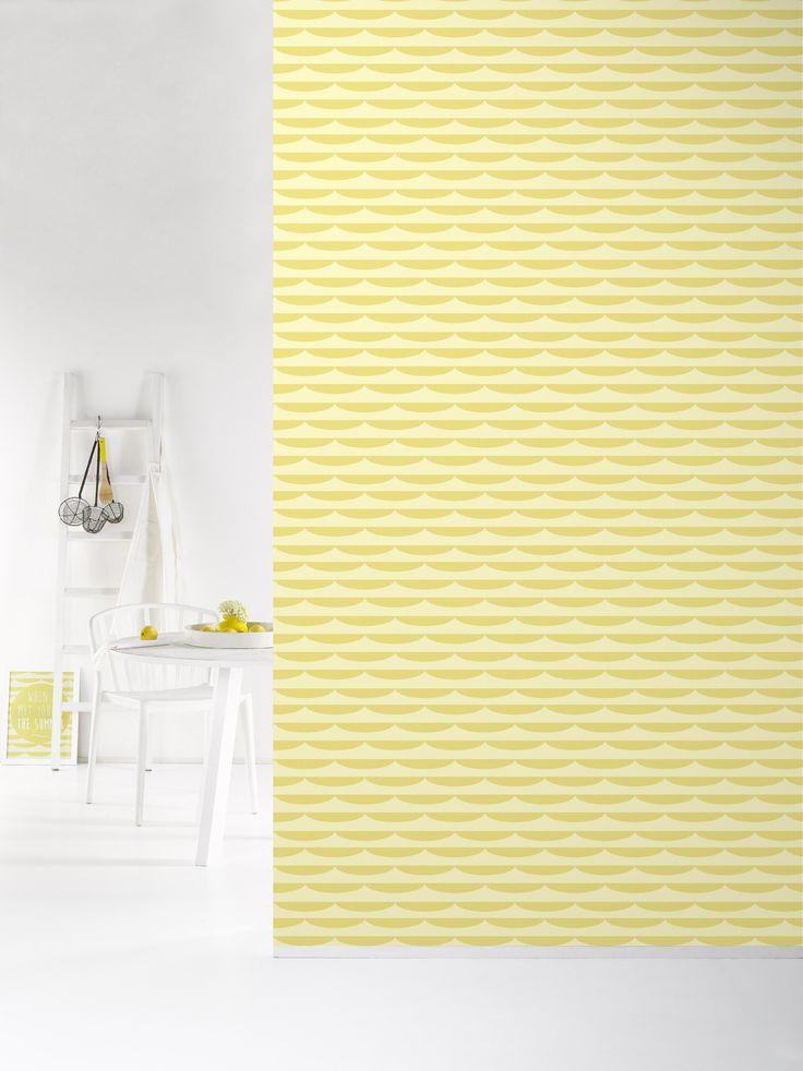 Behang Storm Yellow - Behangpapier - Muur